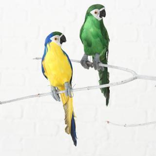 Dekorace papoušek, 2 ks