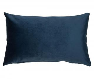 Dekorační polštář Velvet Marine 30x50 cm Modrá 30x50 cm