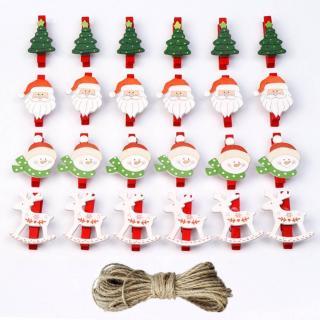 Dekorační vánoční kolíčky 24 ks