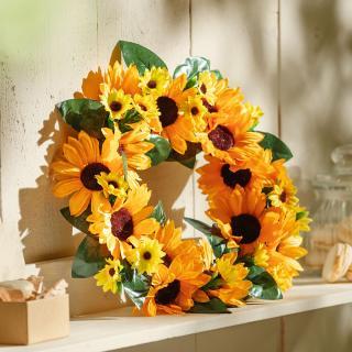 Dekorační věnec slunečnice