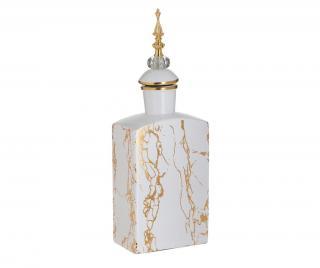 Dekorativní sklenice Marble Gold Sharp Žluta & Zlatavá
