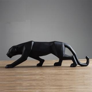 Dekorativní socha leoparda Barva: černá, Velikost: S