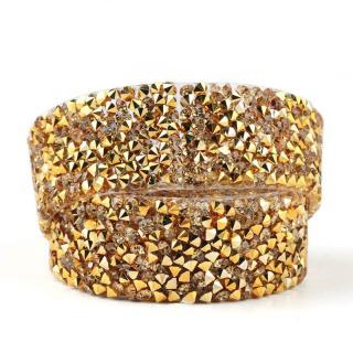 Dekorativní stuha s krystaly Barva: zlatá