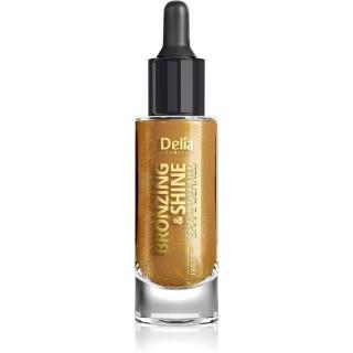 Delia Cosmetics Bronzing & Shine Shape Defined třpytivý suchý olej na obličej a tělo 20 ml dámské 20 ml