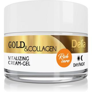 Delia Cosmetics Gold & Collagen Rich Care vitalizující pleťový krém 50 ml dámské 50 ml