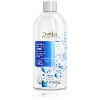Delia Cosmetics Micellar Water Hyaluronic Acid hydratační micelární voda 500 ml dámské 500 ml