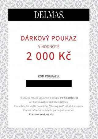 Delmas dárkový poukaz 2 000 Kč