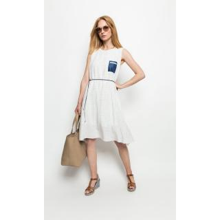 Deni Cler Milano Womans Dress T-Ds-3019-0G-20-16-1 dámské White 40