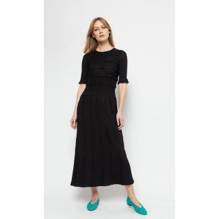 Deni Cler Milano Womans Dress T-Ds-301D-0C-20-90-1 dámské Black 38