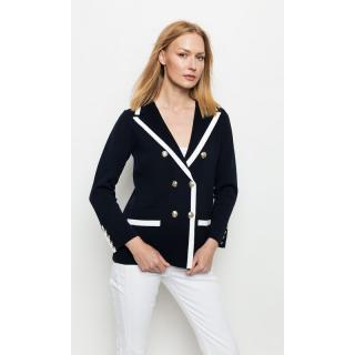 Deni Cler Milano Womans Jacket T-Dc-652D-0G-20-58-1 Navy Blue/White dámské 38
