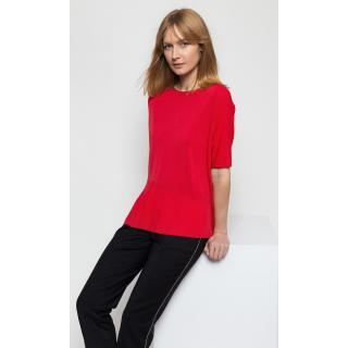 Deni Cler Milano Womans Sweater T-Ds-S403-0A-20-30-1 dámské Red 36