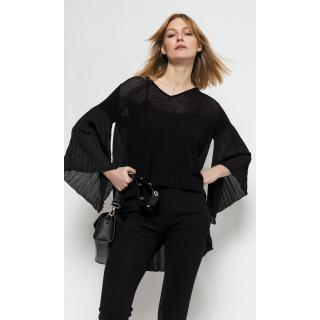 Deni Cler Milano Womans Sweater T-Ds-S408-0C-20-90-1 dámské Black 38