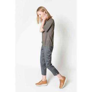 Deni Cler Milano Womans Trousers W-Dc-5217-0B-1B-90-1 dámské Grey 38