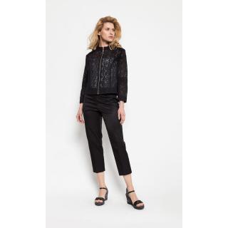 Deni Cler Milano Womans Trousers W-Dc-5217-0F-C9-90-1 dámské Black 40