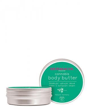 Dermacol Zklidňující vyživující tělové máslo s konopným olejem Cannabis  75 ml