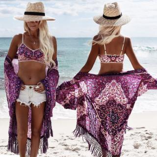 Designový přehoz na pláž Eretrea - fialový