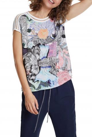 Desigual barevné tričko TS Viena s barevným logem - S dámské barevná S