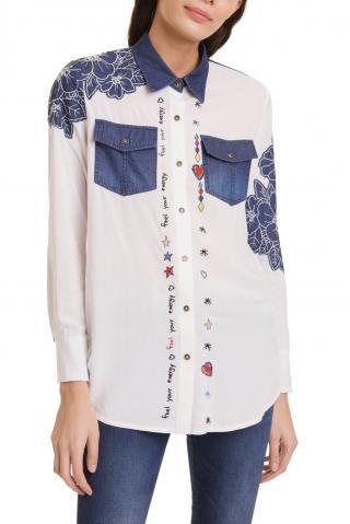 Desigual bílá košile Cam Frida - S dámské S