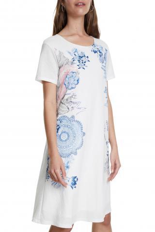Desigual bílé šaty Vest Charlotte - XS dámské bílá XS