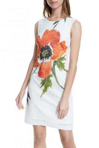 Desigual bílé šaty Vest Eyre - 34 dámské bílá 34