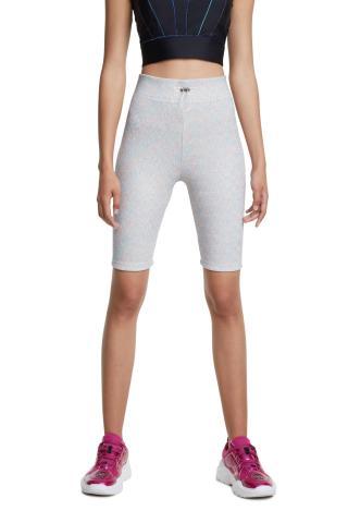 Desigual bílé sportovní kraťasy Cycling Legging Studio White - S dámské bílá S