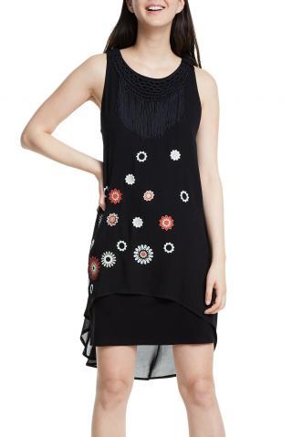 Desigual černé šaty Vest Barrie - 38 dámské černá 38