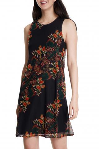 Desigual černé šaty Vest Papillon - XS dámské černá XS
