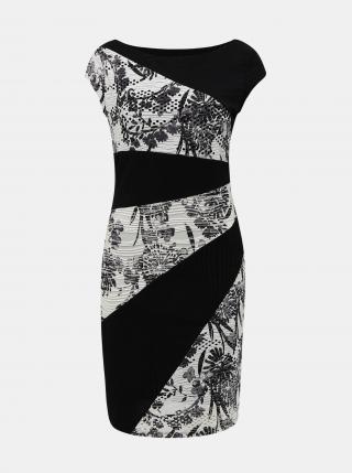 Desigual černo-bílé šaty Detroit - XS dámské černá XS