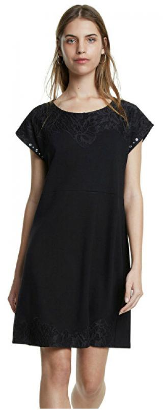 Desigual Dámské šaty Vest Banquet Negro 20SWVK12 2000 S dámské