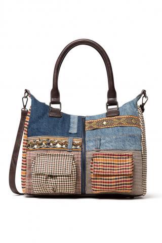 Desigual denimová kabelka Bols Mildred London dámské modrá