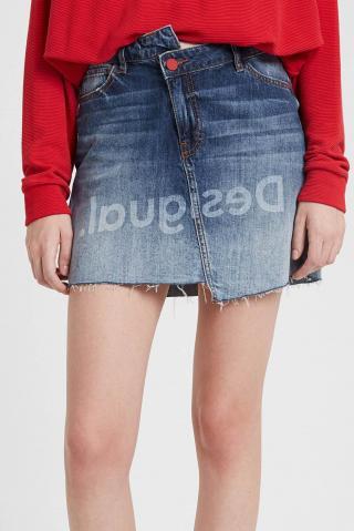 Desigual denimová sukně Fal Log - 24 dámské modrá 24