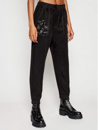 Desigual Joggers kalhoty Sonja 21SWDD51 Černá Regular Fit dámské XL