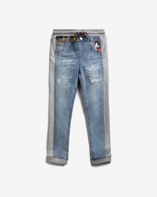 Desigual Mickey Mouse Bimaterial Jeans dětské Modrá Šedá pánské 9-10 let