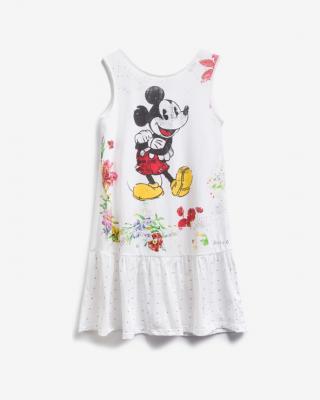 Desigual Mickey Mouse Šaty dětské Bílá dámské 9-10 let