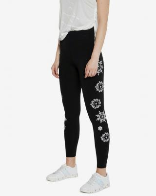 Desigual Swiss Embroidery Legíny Černá dámské XL