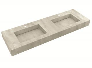 Deska se zabudovaným umyvadlem Salgar Compakt 150x12x51 cm beton 87245.150 šedá beton