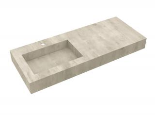 Deska se zabudovaným umyvadlem vlevo Salgar Compakt 120x12x51 cm beton 87246 šedá beton