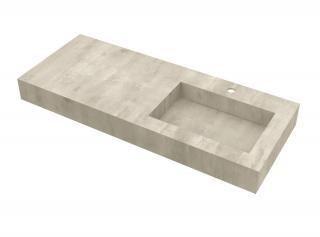 Deska se zabudovaným umyvadlem vpravo Salgar Compakt 120x12x51 cm beton 87247 šedá beton