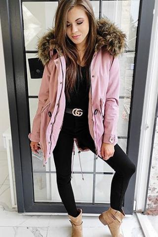 DESTONS womens parka jacket, pink TY1311 dámské Neurčeno S