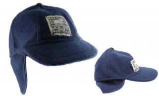 Dětská čepice modrá s nášivkou