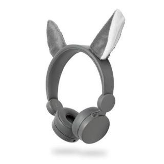 Dětská drátová sluchátka Nedis HPWD4000GY Willy Wolf šedá