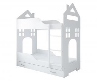 Dětská patrová postel  80x180 cm Bílá 80x180 cm