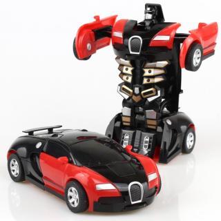Dětské auto / robot 2v1 Barva: červená