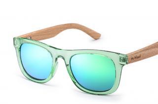 Dětské dřevěné sluneční brýle - 3 barvy Barva: zelená