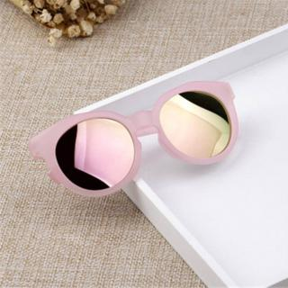 Dětské kulaté sluneční brýle - 6 barev Barva: růžová