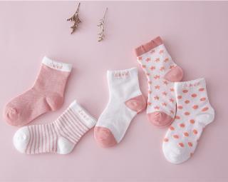 Dětské ponožky s různými potisky -  - 8 barev Barva: červená, Velikost: 0-1 rok