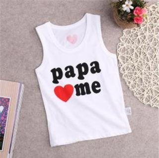 Dětské tílko PAPA LOVES ME, MAMA LOVES ME Velikost: 9-12 měsíců, Varianta: PAPA LOVES ME