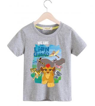 Dětské tričko s potiskem Lví král - 9 barev Barva: šedá, Velikost: 2