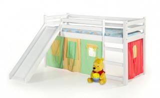 Dětský nábytek dětská patrová postel nava s matrací bílá
