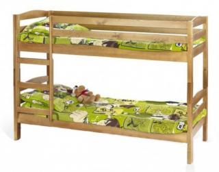 Dětský nábytek dětská patrová postel selina s matrací borovice